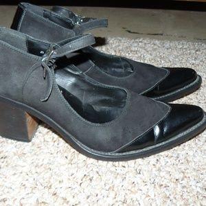 DKNY Jeans Black Suede Heels Sz. 8